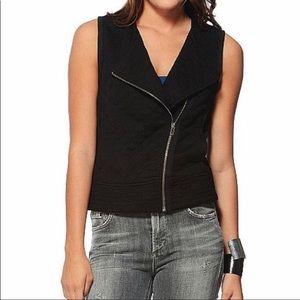 Sanctuary Quilted Moto Vest Black